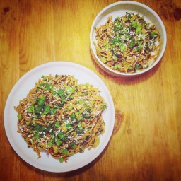 Sort of Satay Noodles with Funky Fresh Veg